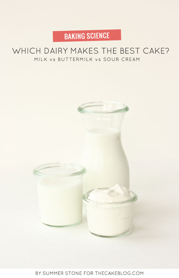 Which Dairy Makes the Best Cake? | Baking Science Article by Summer Stone for TheCakeBlog.com