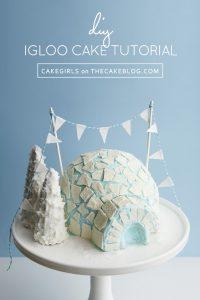 DIY Igloo Cake | a cake tutorial by Cakegirls for TheCakeBlog.com