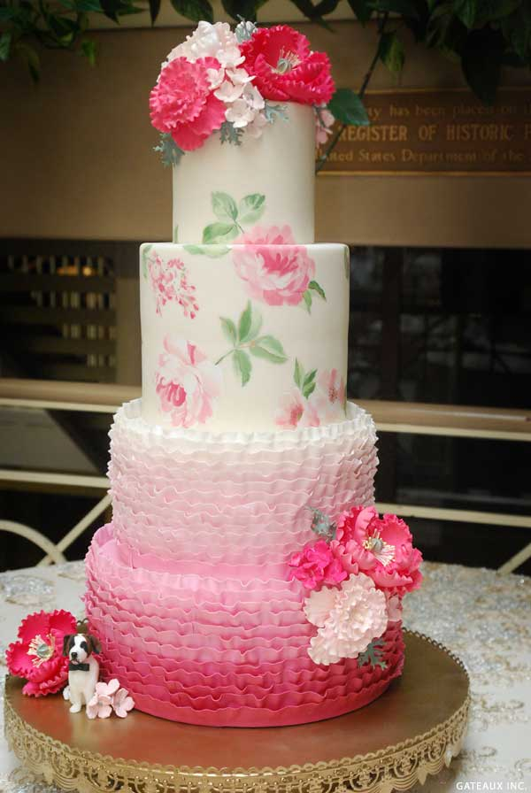 Painted Rose Cake | by Gateaux Inc on TheCakeBlog.com