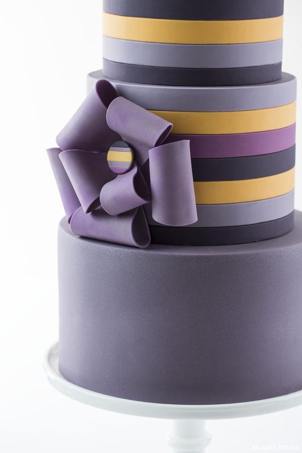 Pantone Fall 2014 Stripes | by AK Cake Design for TheCakeBlog.com
