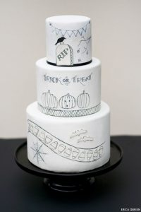 Black & White Halloween Cake Inspiration | by Erica OBrien for TheCakeBlog.com