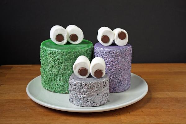 DIY Glammy Monster Cakes | by Erin Gardner for TheCakeBlog.com
