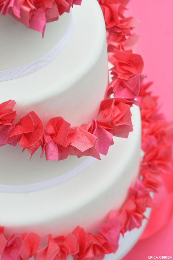 Paper Garland Cake | translating trends into cake designs | by Erica OBrien for TheCakeBlog.com