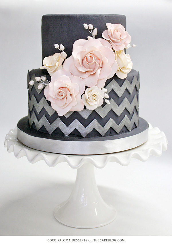 10 Pretty Black Cakes The Cake Blog