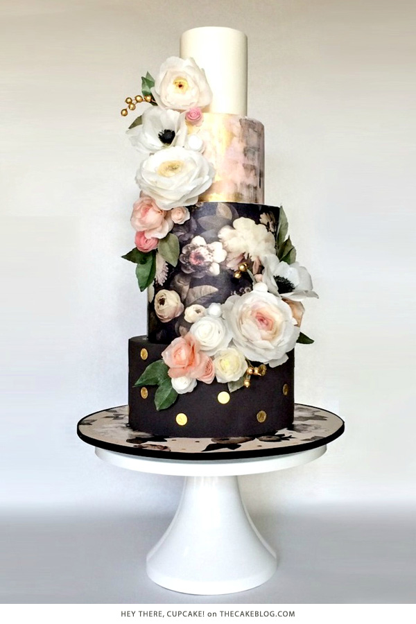 10 Beautiful Black Cakes | including Hey There, Cupcake! | on TheCakeBlog.com