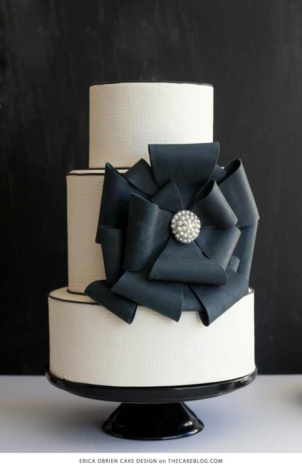 10 Beautiful Black Cakes | including Erica OBrien Cake Design | on TheCakeBlog.com