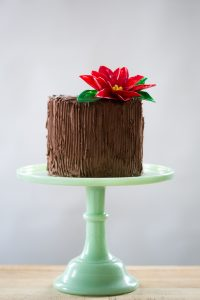DIY Chocolate Poinsettias | a step-by-step tutorial by Erin Gardner for TheCakeBlog.com