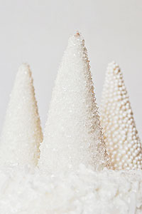 Sparkling Christmas Trees from ice cream cones | TheCakeBlog.com