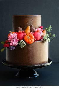 Chocolate Painted Cake | dramatically dark fall cake inspiration | by Erica OBrien for TheCakeBlog.com