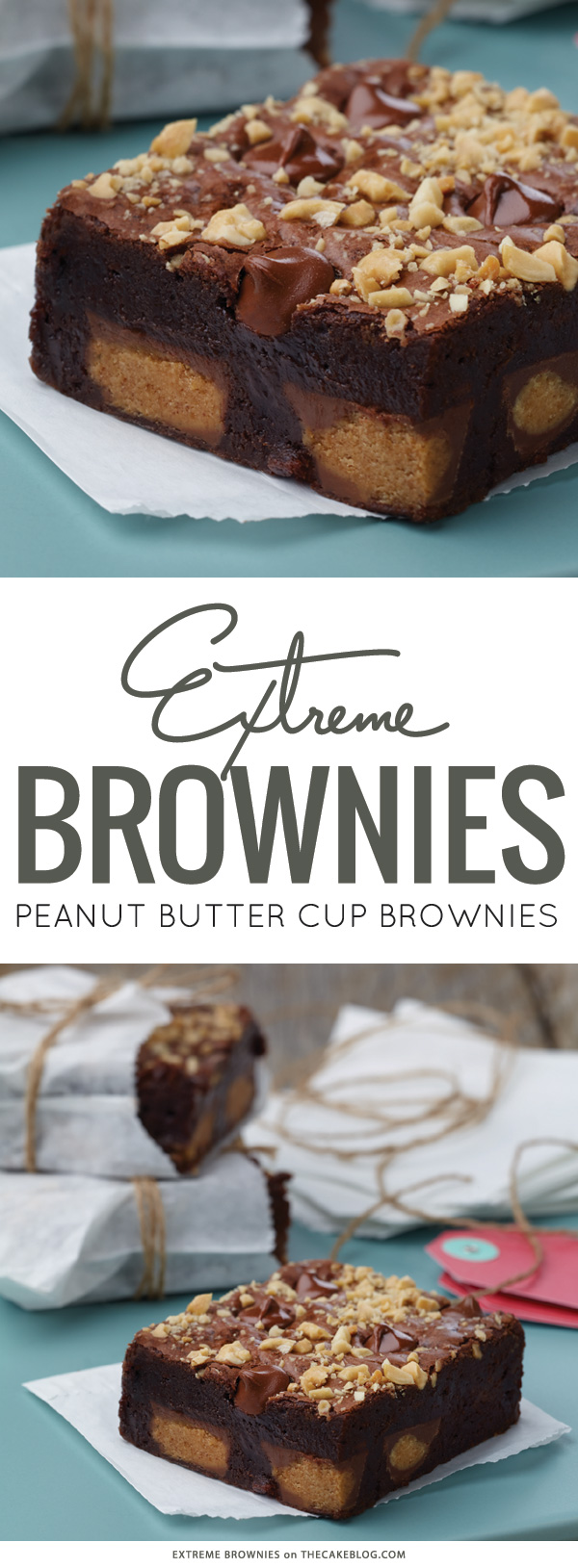 Extreme Peanut Butter Cup Brownies | by Connie Weis on TheCakeBlog.com