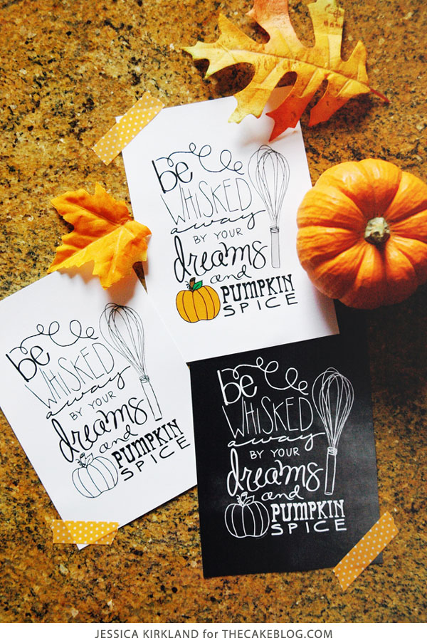 FREE Fall Kitchen Print | Jessica Kirkland for TheCakeBlog.com