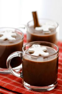 Frozen Whipped Cream Cubes for Holiday Hot Chocolate | Carrie Sellman for TheCakeBlog.com