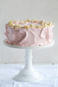 Pink Peppermint Cake - vanilla bean cake with whipped white chocolate peppermint | by Tessa Huff for TheCakeBlog.com