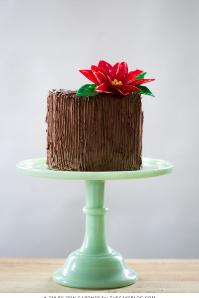 Chocolate Poinsettia Cake