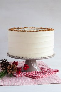 Eggnog Cake | a browned butter spice cake with eggnog buttercream | by Tessa Huff for TheCakeBlog.com