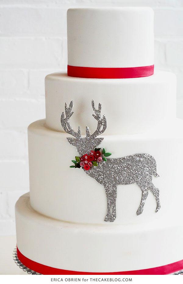 glittering deer cake