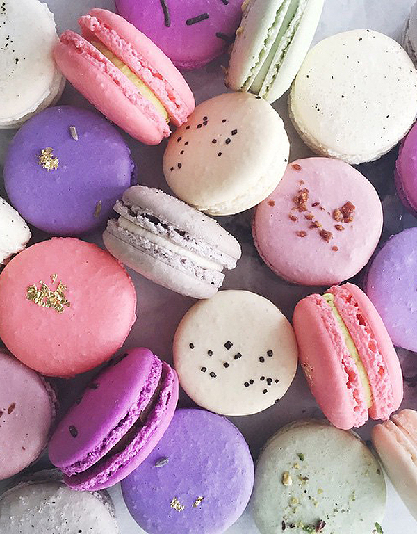Vibrant macarons | Bakery Tour of Jenna Rae Cakes | on TheCakeBlog.com