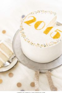 DIY Sprinkle New Years Eve Cake