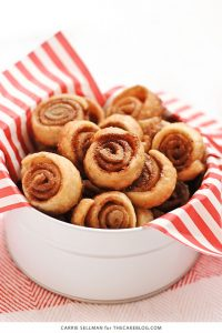 Pie Crust Cookies | poppable pinwheels of cinnamon-sugar-coated pie crust | by Carrie Sellman for TheCakeBlog.com
