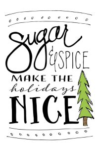 Decorate for the holidays with this free download | Sugar & Spice original artwork | by Jessica Kirkland for TheCakeBlog.com