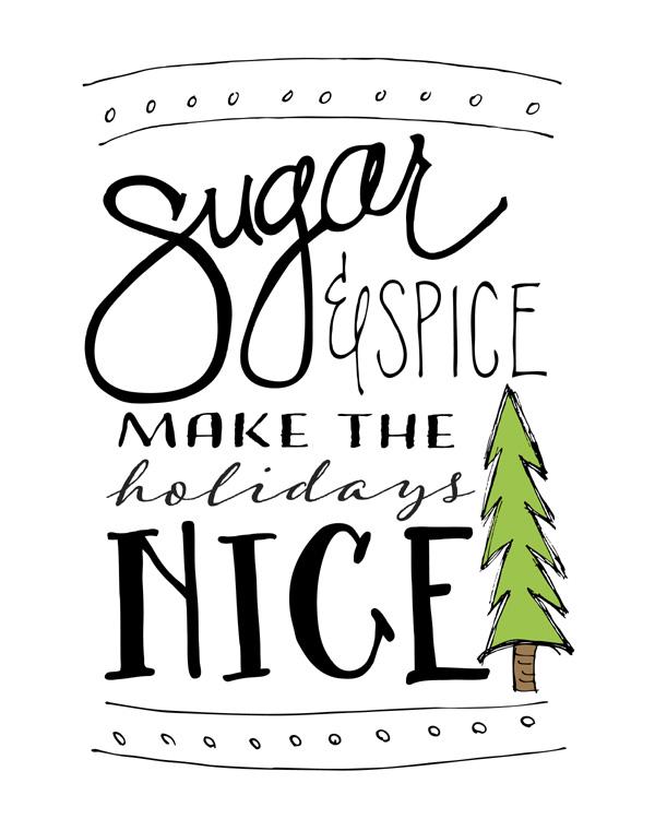 Decorate for the holidays with this free download | Sugar & Spice original artwork | by Jessica Kirkland for TheCakeBlog.com