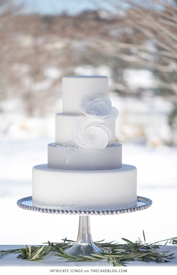 Winter Wonderland Wedding Cake | by Intricate Icings on TheCakeBlog.com