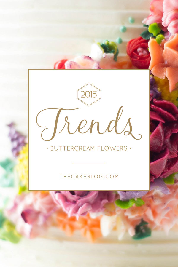2015 Wedding Cake Trends | including this modern buttercream flower cake by Erica OBrien Cake Design | on TheCakeBlog.com