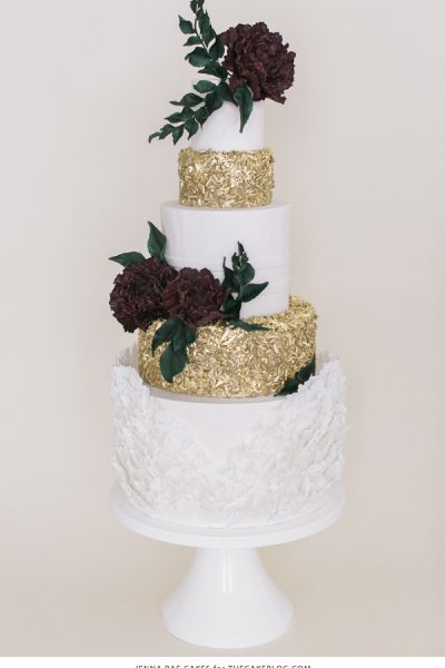 2015 Wedding Cake Trends : Sequins
