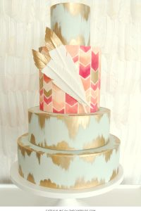 2015 Wedding Cake Trends : Hand-Painted Details