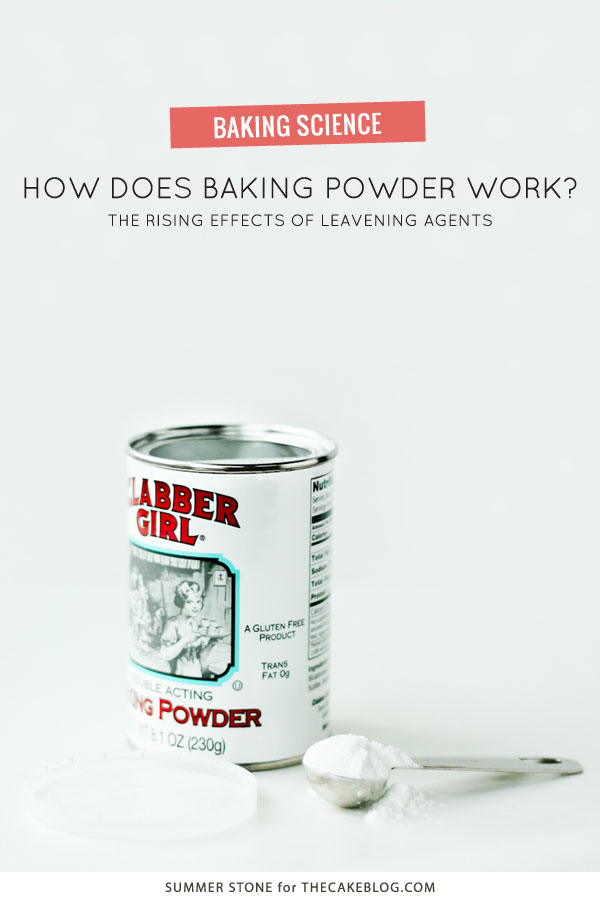 How Baking Powder Affects Your Recipes | a Baking Science article by Summer Stone for TheCakeBlog.com