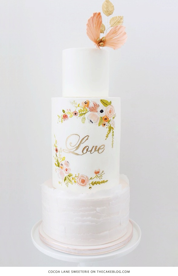 10 Love Inspired Cakes | including this design by Cocoa Lane Sweeterie | on TheCakeBlog.com