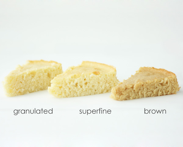 Oh Sugar, Sugar  |  Side-By-Side Comparison of 5 Sweeteners  |  a Baking Science article by Summer Stone for TheCakeBlog.com