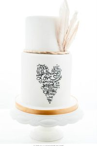 10 Love Inspired Cakes | including this design by Le Dolci | on TheCakeBlog.com