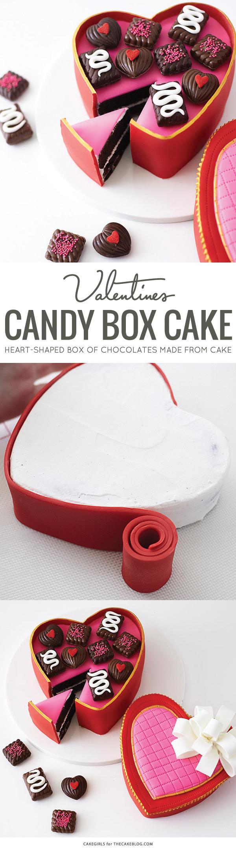 & Valentineu0027s Heart Candy Box Cake Aboutintivar.Com