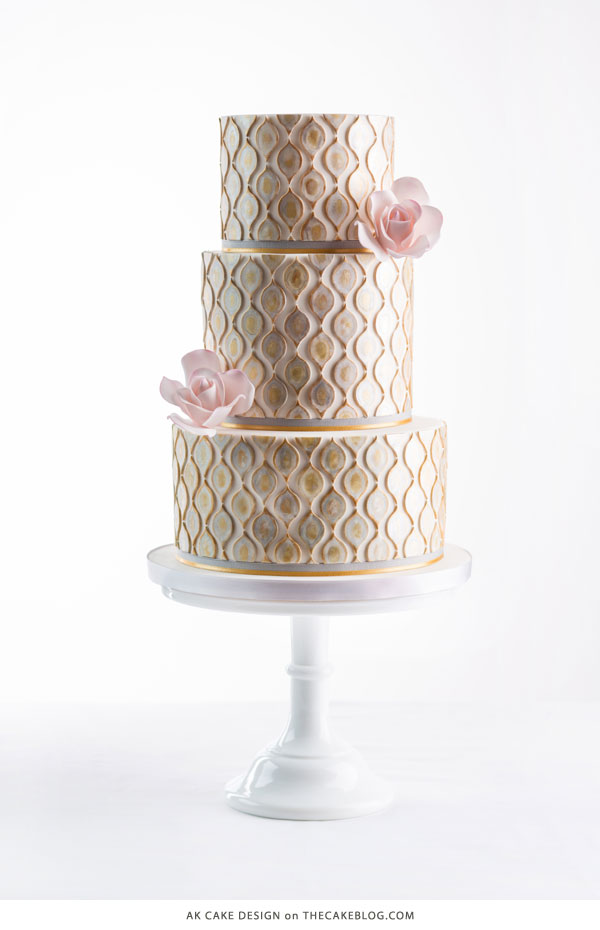 10 Watercolor Cakes | including this design by AK Cake Design | on TheCakeBlog.com