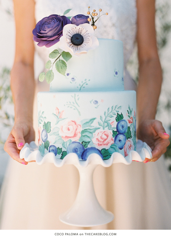 10 Watercolor Cakes | including this design by Coco Paloma | on TheCakeBlog.com