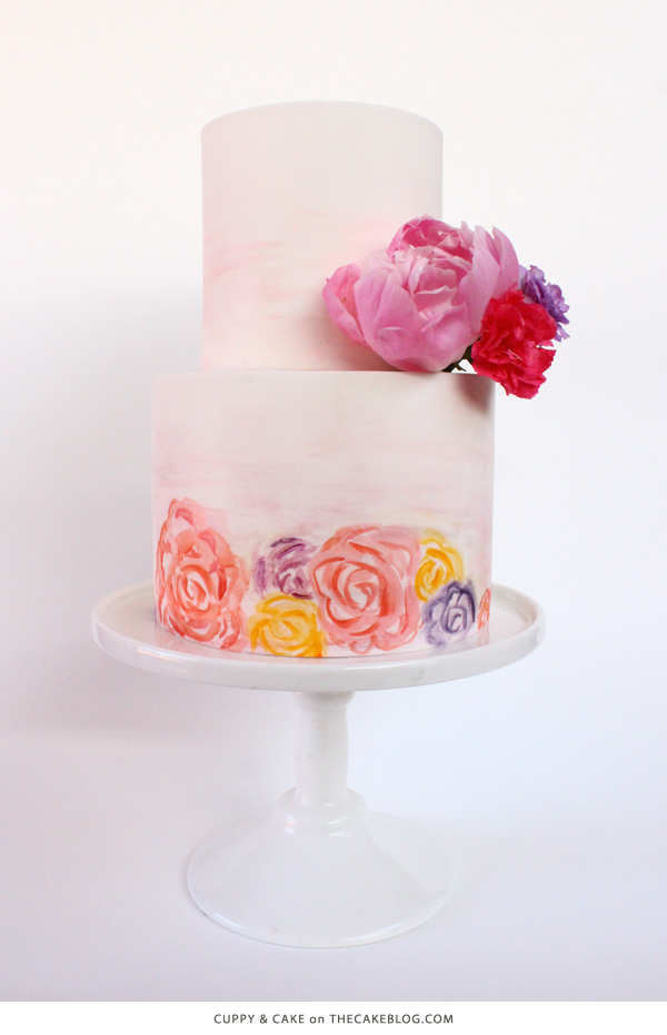 10 Watercolor Cakes | including this design by Cuppy & Cake  | on TheCakeBlog.com