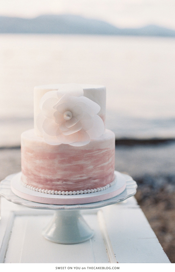 10 Watercolor Cakes | including this design by Sweet On You | on TheCakeBlog.com