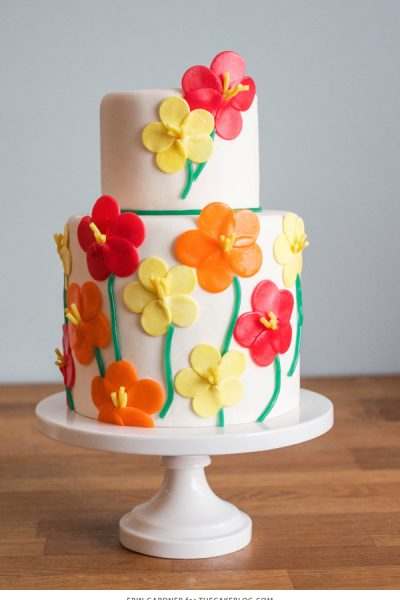 Candy Flower Cake
