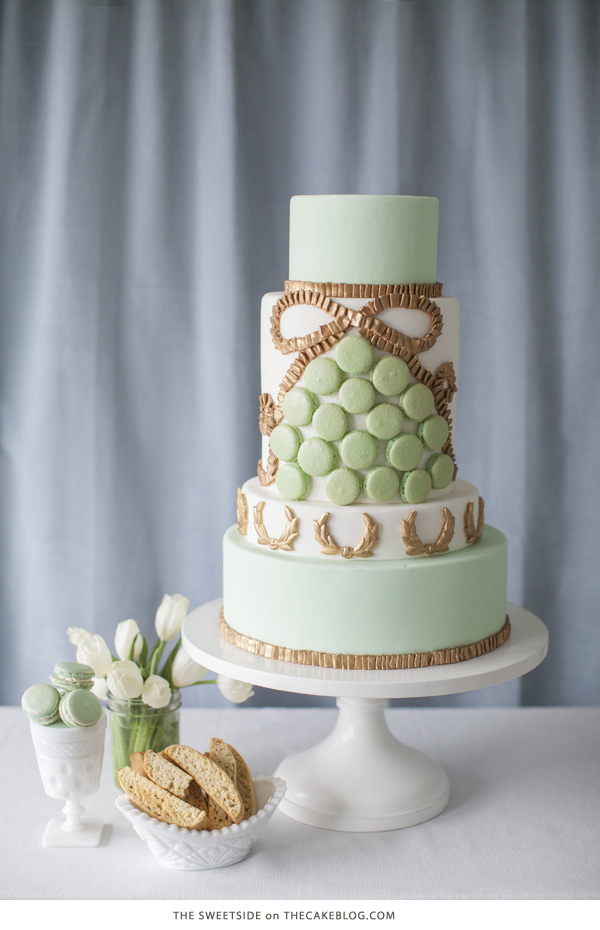 10 Gorgeously Green Cakes | including this design by The SweetSide | on TheCakeBlog.com