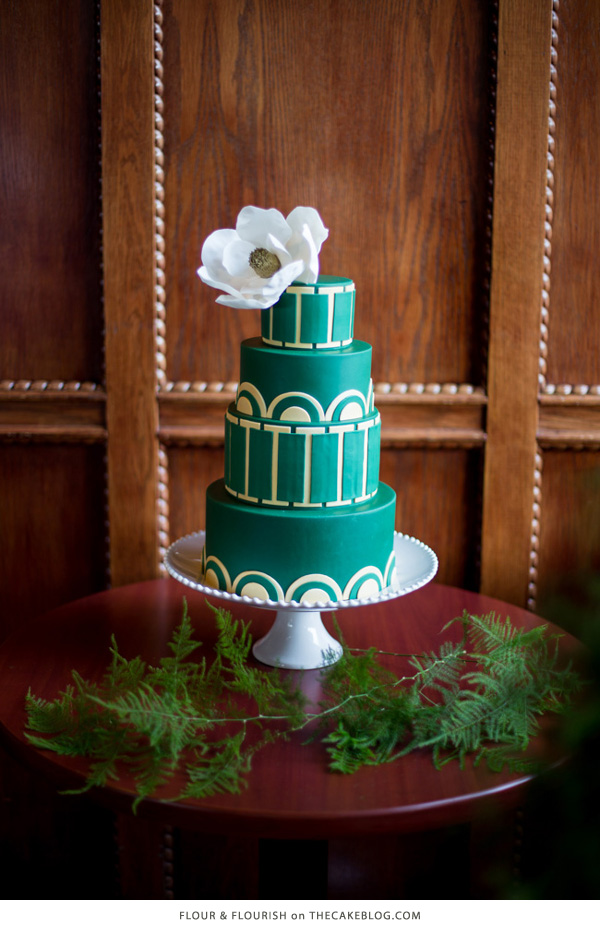 10 Gorgeously Green Cakes  | including this design by Flour & Flourish  | on TheCakeBlog.com