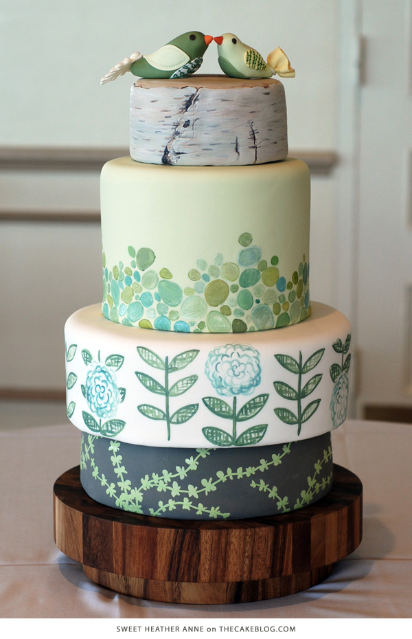 10 Gorgeously Green Cakes  | including this design by Sweet Heather Anne | on TheCakeBlog.com