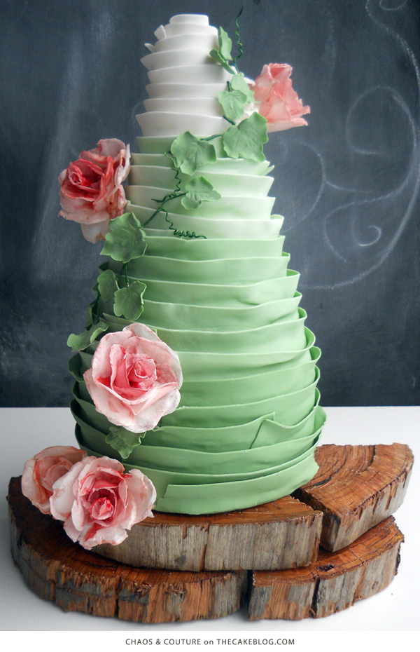 10 Gorgeously Green Cakes | including this design by Chaos & Couture | on TheCakeBlog.com