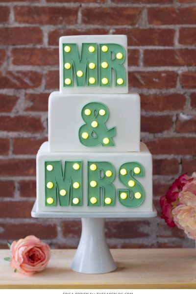 Marquee Letters Cake