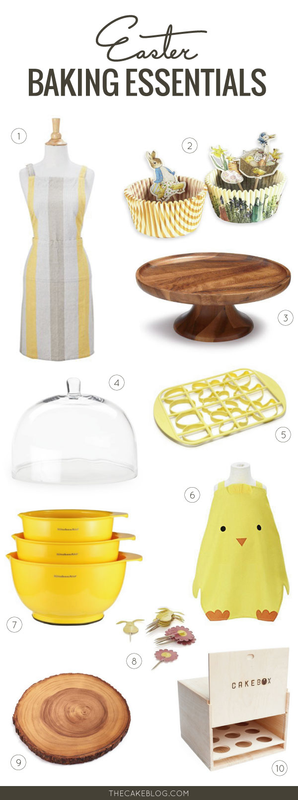 Baking Supplies For Spring Easter Entertaining