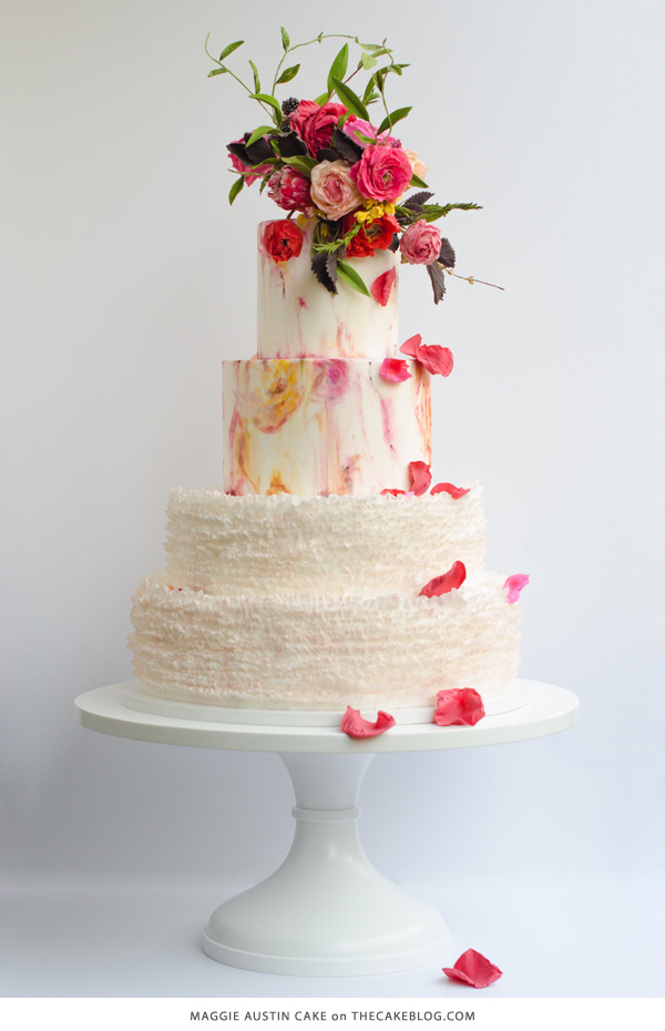 10 Flower Cakes for Spring | including this design by Maggie Austin Cake | on TheCakeBlog.com
