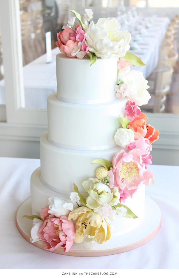 10 Flower Cakes for Spring | including this design by Cake Ink | on TheCakeBlog.com