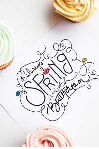 It's Always Spring with Buttercream | |Free Art Print | by Jessica Kirkland for TheCakeBlog.com