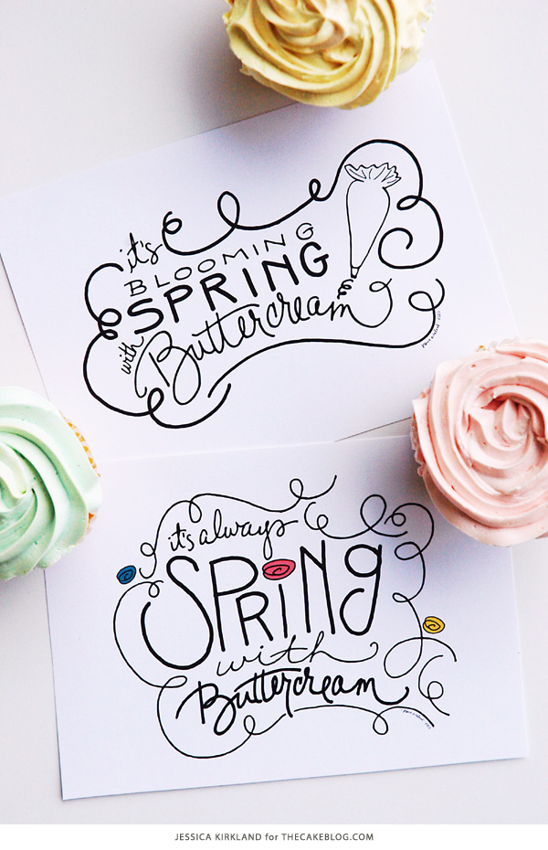 It's Always Spring with Buttercream | Free Art Print | by Jessica Kirkland for TheCakeBlog.com
