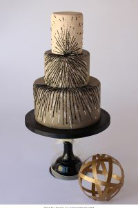 Black & Silver Sequin Cake | by Rachael Teufel for TheCakeBlog.com